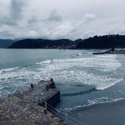 Vista mare della Spiaggia il Lido di Lerici. Location scouting Italia