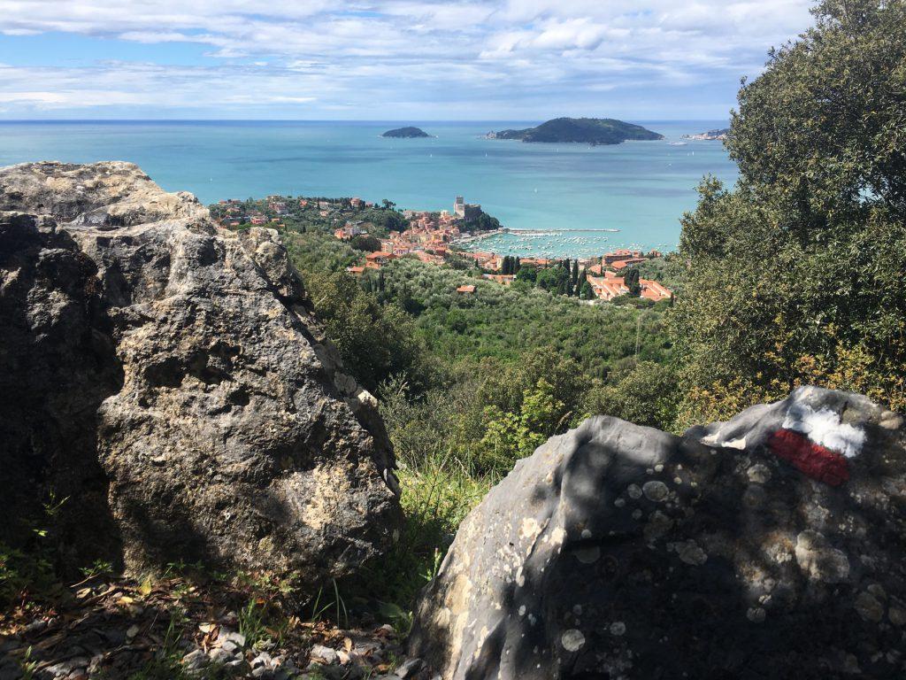 Vista di Lerici ed Isole Palmaria, Tino, dal sentiero CAI - Guercio/Fornace