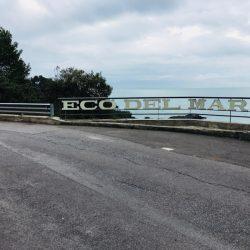 insegna Spiaggia privata Eco del Mare lungo Via Fiascherino - Location Scouting Italia - duzimage