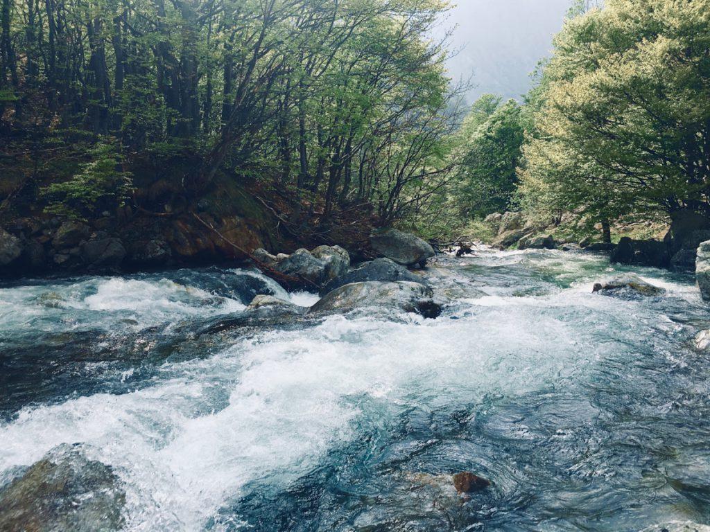 vista del torrente di Entracque - Piemonte