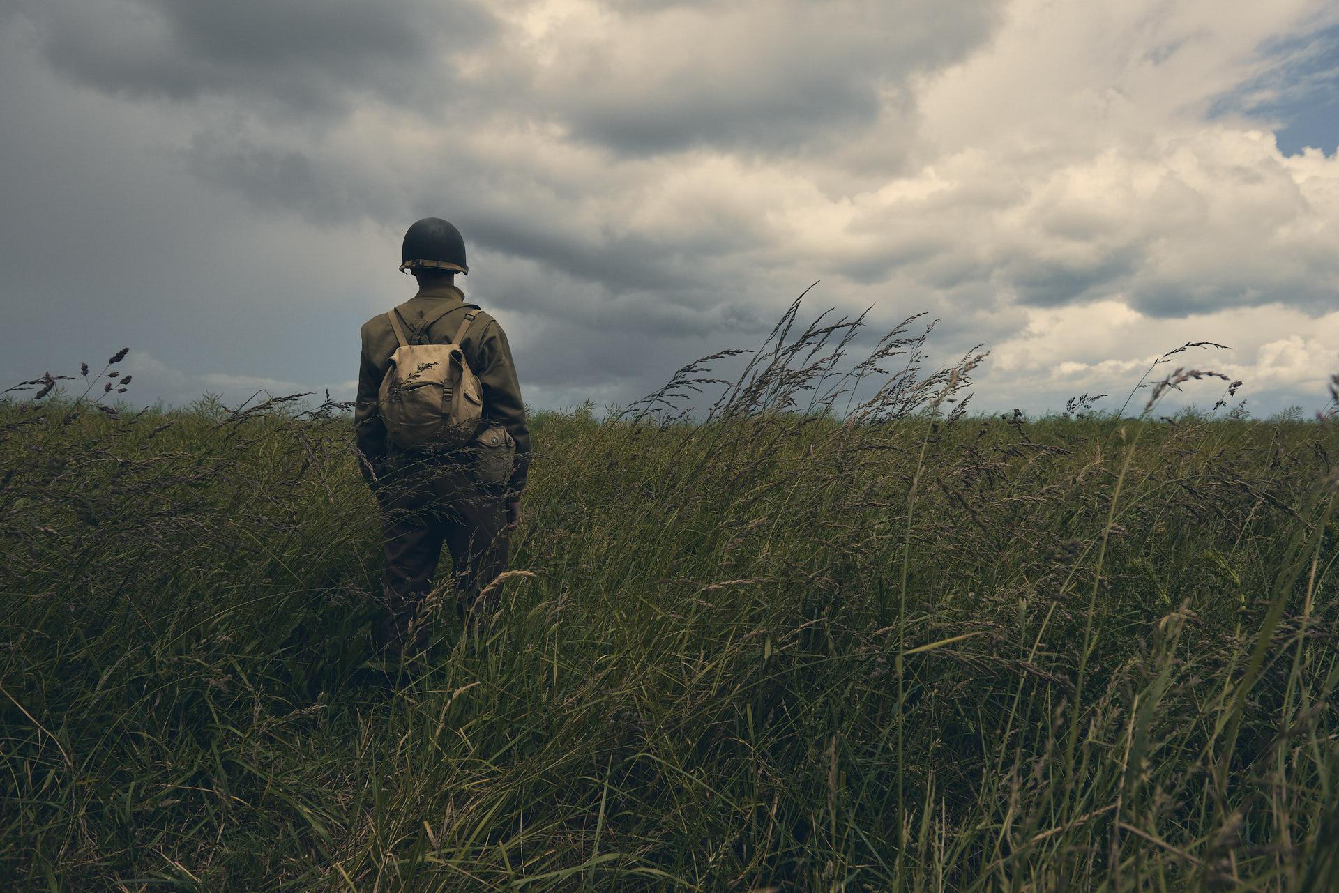 Portrait of a soldier along the shores of Normandy - Utah beach - ritratto di soldato lungo le spiagge della Normandia