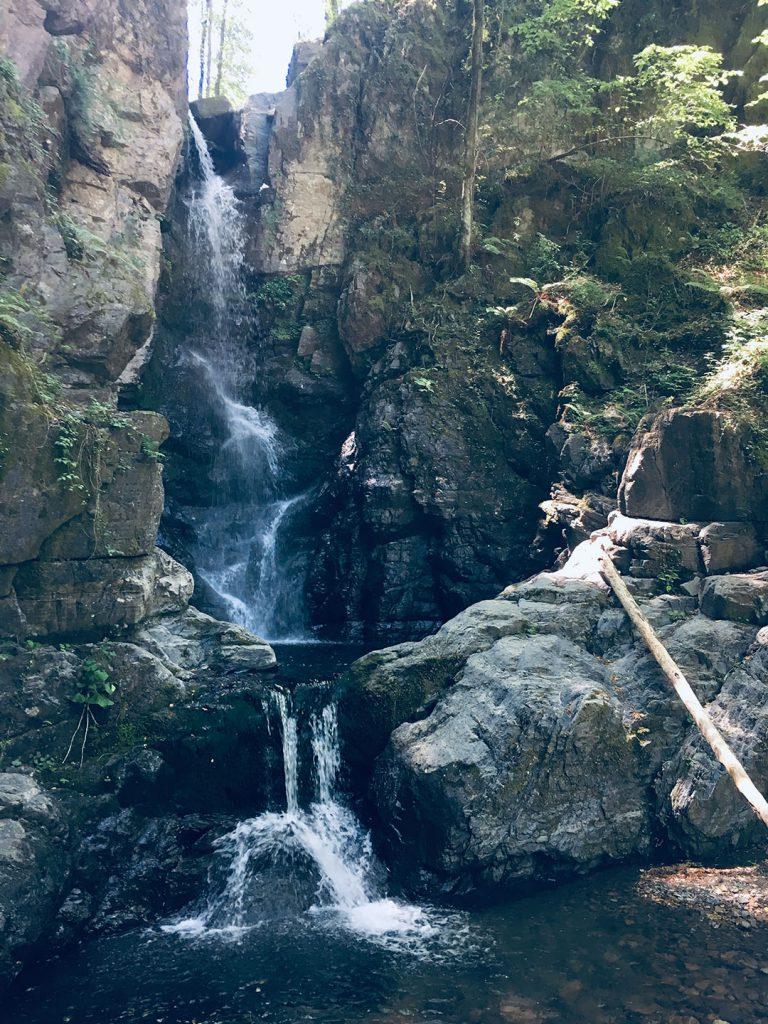 Waterfall nearby Parana - Italy. Cascata nei pressi di Parana, MS Italia